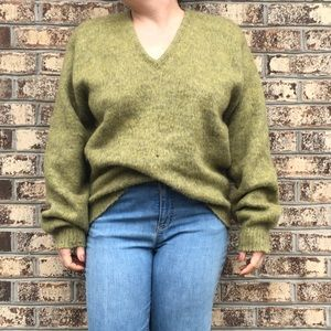 Vintage Oversized Mohair Wool Grandpa Sweater